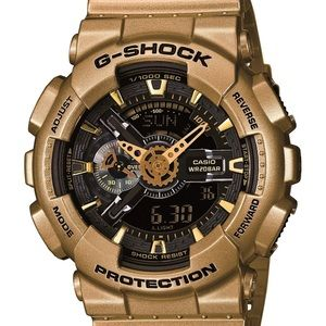 Gold G-Shock oversized Watch